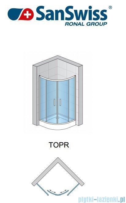 SanSwiss Top-Line TOPR Kabina prysznicowa półokrągła 100cm profil srebrny TOPR551000107