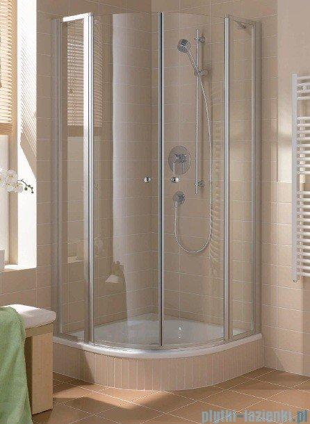 Kermi Cada Kabina ćwierćkolista z drzwiami wahadłowymi, szkło przezroczyste CadaClean 80x80cm CAP53080182PK