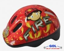 Kask rowerowy AXER FIRE LED S 48-52 NA ROLKI