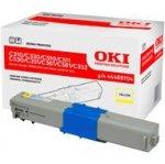 Toner Oki do C310/330/C510/511/530/351/361/561/352/361/362 | 2 000 str. | yellow