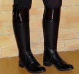 Sztyblety jeździeckie + czapsy oficerkowe Pascuello, KOMPLET DAMSKI ze skóry licowej lakierek