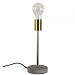 Lampa stołowa z betonu - Bello - złota