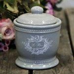 Pojemnik ceramiczny Chic Antique - LE BAIN - szary