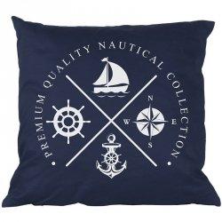 Poduszka French Home - Marynarska Nautical - granatowa