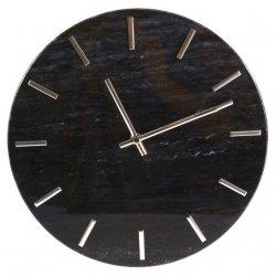 Zegar Marmor - czarny - 30 cm