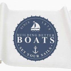 Bieżnik French Home - Marynarski Boats M - biały