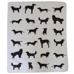 Koc dla psa David Fussenegger - Dogs Allover - ecru