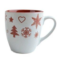 SANTA - kubek świąteczny - bordowy