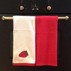 Komplet ręczników kuchennych Tac - TRUSKAWKA
