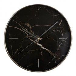 Zegar Marble - czarny - 30,5 cm