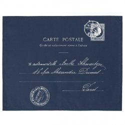 Serweta / podkładka French Home - Carte Postale - granatowa