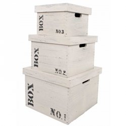Pudła drewniane Interstil Interior - BOX 2 - 3 szt.