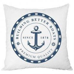 Poduszka French Home - Marynarska Anchor - biała