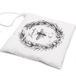 Poduszka na krzesło French Home - Jardin - biała