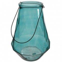 Lampion Glass - niebieski 36,5 cm