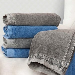 Ręcznik DENIM Koronka - niebieski