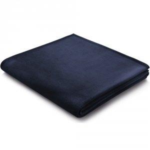 Koc Biederlack 100% bawełna - Pure Cotton - granatowy