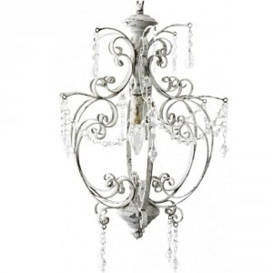 Żyrandol Chic Antique - Vintage Crystals - biały