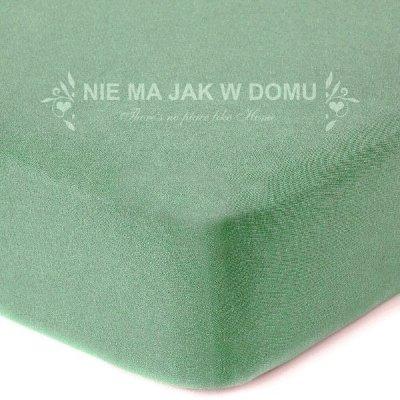 Prześcieradło jersey z gumką - zielone