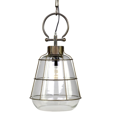 Lampa sufitowa Chic Antique - FACTORY - szklana 43,5 cm