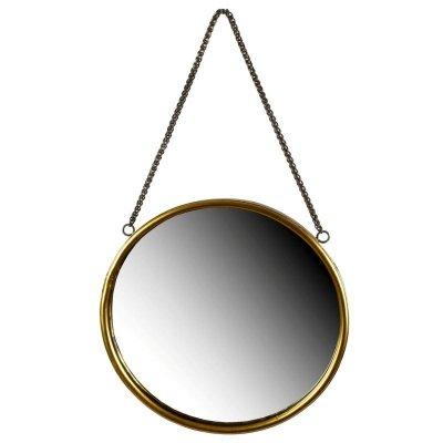 Lustro na łańcuchu - Gold - 30 cm