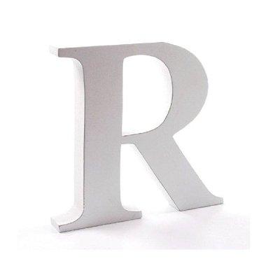 Litera dekoracyjna duża - R - biała