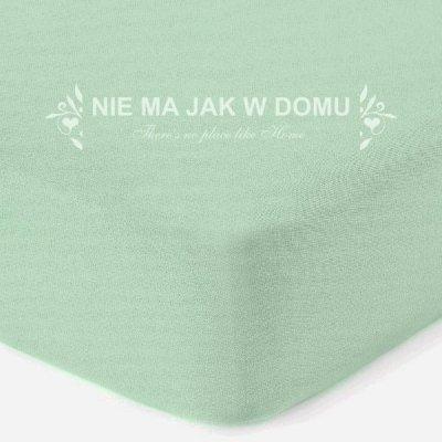 Prześcieradło jersey z gumką - zielone pastelowe