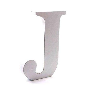 Litera dekoracyjna duża - J - biała