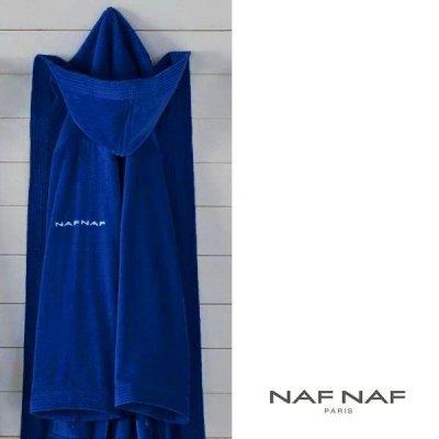 Szlafrok NAF NAF - Unisex - niebieski ciemny