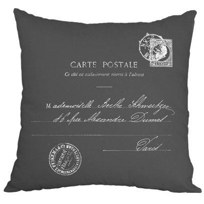 Poduszka French Home - Carte Postale - szara