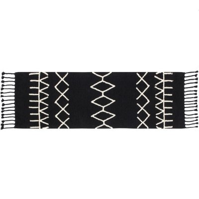 Dywan do prania w pralce - Lorena Canals BLACK&WHITE - Bereber Black II