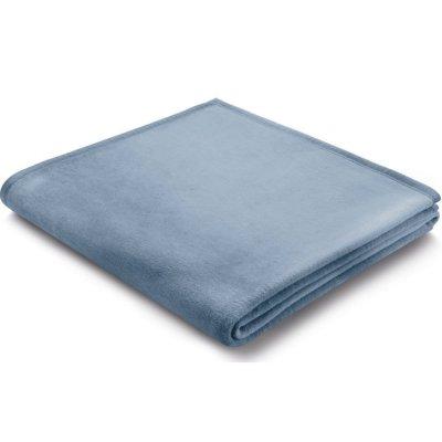 Koc Biederlack 100% bawełna - Pure Cotton - niebieski pastelowy