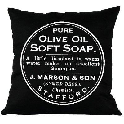 Poduszka French Home - Olive - czarna