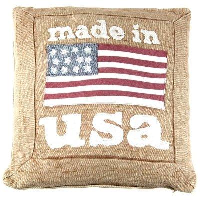 Poduszka dekoracyjna - made in USA - beżowa