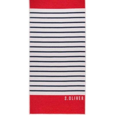 Ręcznik plażowy s.Oliver - czerwony 80x180 cm