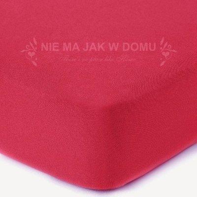 Prześcieradło jersey z gumką - czerwone