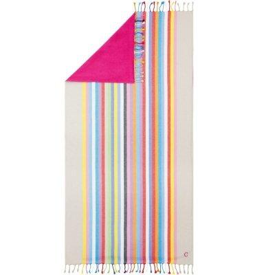 Ręcznik plażowy Cawo Viva - różowy 90x180 cm