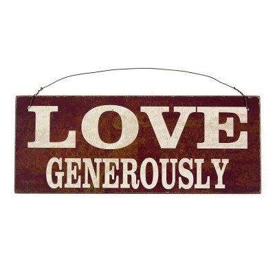 Zawieszka Vintage - LOVE GENEROUSLY