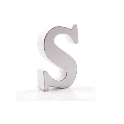Litera dekoracyjna mała - S - biała