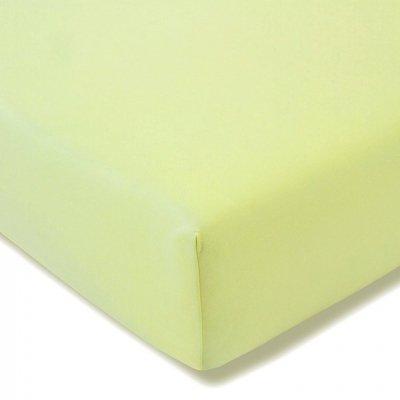 Prześcieradło ESTELLA Feinjersey z gumką - zielone jasne