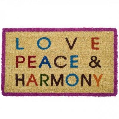 Wycieraczka kokosowa Gift Company - LOVE, PEACE & HARMONY