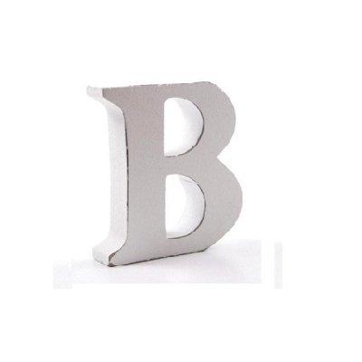 Litera dekoracyjna mała - B - biała