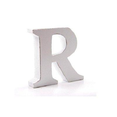 Litera dekoracyjna mała - R - biała