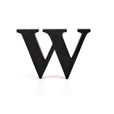 Litera ozdobna duża - W - czarna
