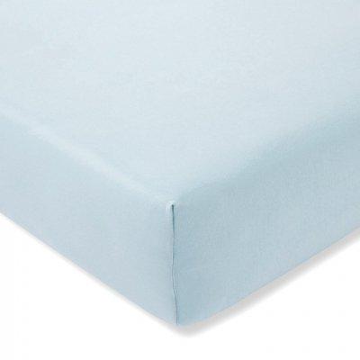Prześcieradło ESTELLA Feinjersey z gumką - niebieskie pastelowe