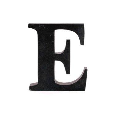 Litera ozdobna duża - E - czarna