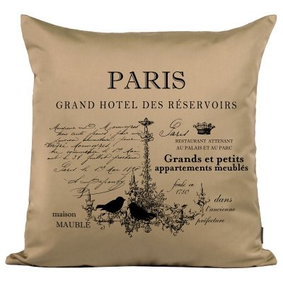 Poduszka French Home - Paris - beżowa