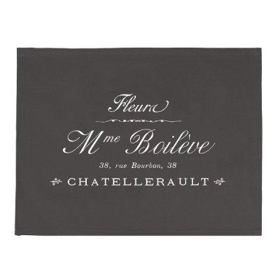 Serweta / podkładka French Home - Madame - szara