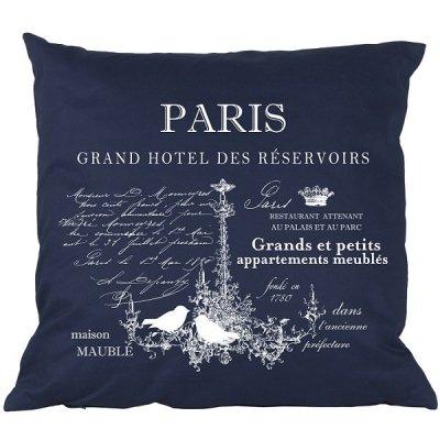 Poduszka French Home - Paris - granatowa
