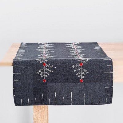 Bieżnik świąteczny CHRISTMAS - szary 50x100 cm